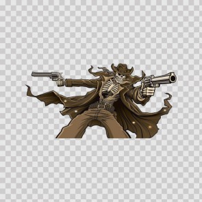 Outlaw Skeleton Cowboy With Guns 15611