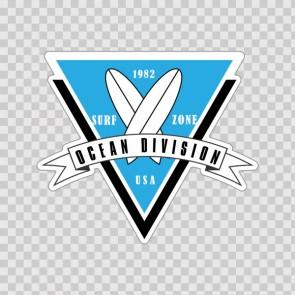 Ocean Division Surf Sign 15639