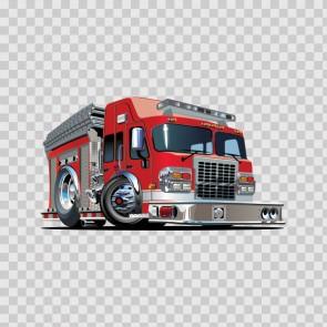 Fire Truck Caricature 15642
