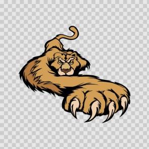 Lion Attack Mascot 15744