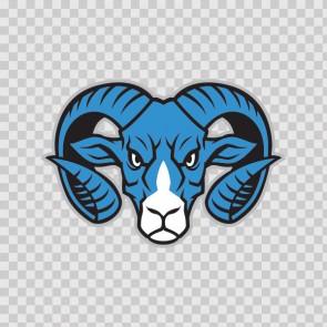Blue Ram Head Mascot 15793