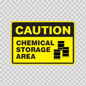 Caution Chemical Storage Area 18402