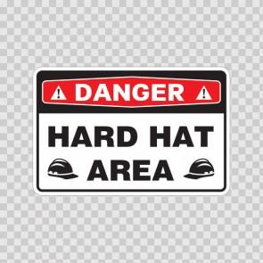Danger Hard Hat Area 18456