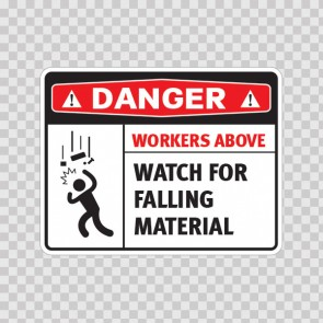 Danger Workers Above Watch For Falling Material 18469