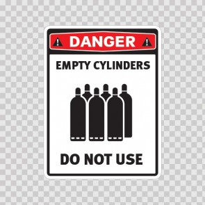 Empty Cylinders. Do Not Use. 18618