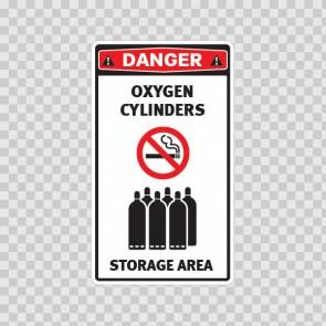 Oxygen Cylinders. Storage Area. 18621