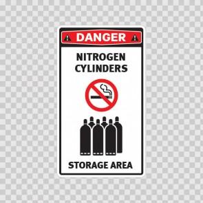 Nitrogen Cylinders. Storage Area. 18623
