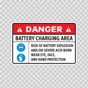 Danger Battery Charging Area. Risk Of Battery Explosion And/Or Severe Acid Burn.. 18632