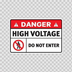 Danger Do Not Enter High Voltage 18700