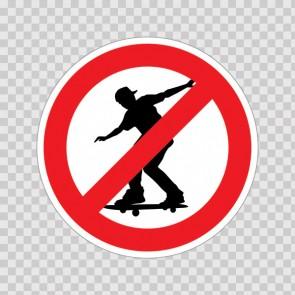 No Skateboarding Symbol 18703