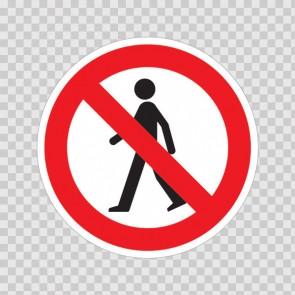 No Pedestrians Symbol  18709