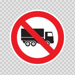 No Trucks Symbol  18715