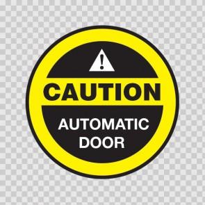Caution Automatic Door 18781