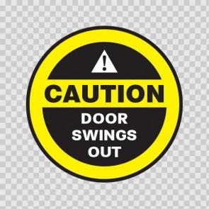 Caution Door Swings Out 18782