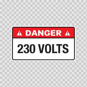 Danger 230 Volts 18954