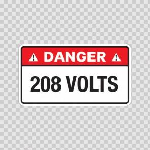 Danger 208 Volts 18956