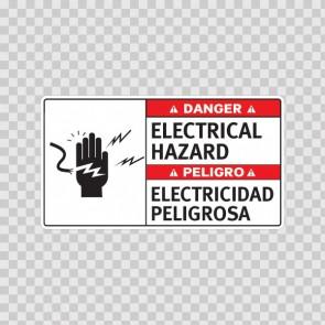 Danger Electrical Hazard / Peligro, Electricidad Peligrosa 18966