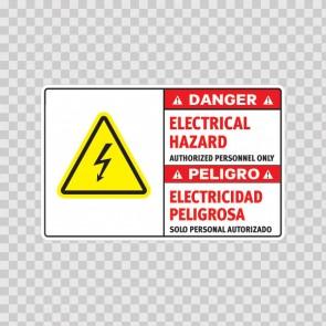 Danger Electrical Hazard. Authorized Personnel Only. / Peligro, Electricidad Peligrosa. Solo Personal Autorizado 18967