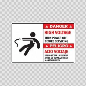 Danger High Voltage. Turn Power Off Before Servicing/ Peligro Alto Voltaje. Desconectar La Energia Antes De Reparar O Dar Mantenimiento. 18969