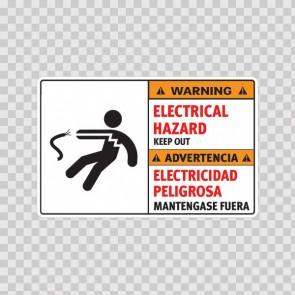 Warning Electrical Hazard. Keep Out. / Advertencia, Electricidad Peligrosa. Mantengase Fuera. 18975