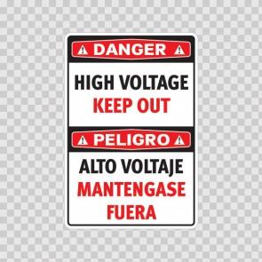 Danger High Voltage Keep Out / Peligro, Alto Voltaje. Mantengase Fuera 18976