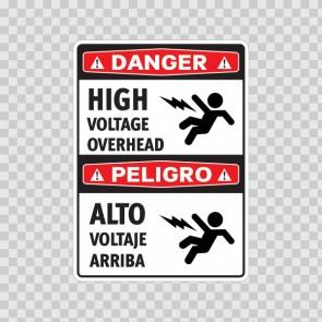 Danger High Voltage Overhead / Peligro, Alto Voltaje Arriba 18983