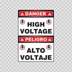 Danger High Voltage / Peligro, Alto Voltaje.  18985
