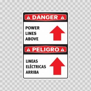 Danger Power Lines Above / Peligro, Lineas Eléctricas Arriba. 18987