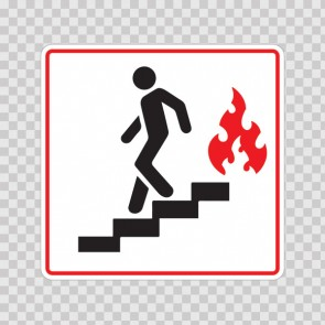 Use Stairs In Case Of Fire Symbol 19032