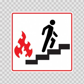 Use Stairs In Case Of Fire Symbol 19033