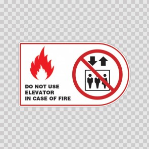 Do Not Use Elevator In Case Of Fire Symbol 19034
