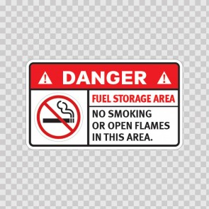 Danger Fuel Storage Area. No Smoking Or Open Flames In This Area. 19037