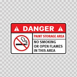 Danger Paint Storage Area. No Smoking Or Open Flames In This Area. 19038
