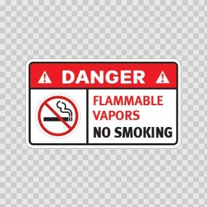 Danger Flammable Vapors. No Smoking. 19042