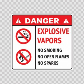 Danger Explosive Vapors. No Smoking. No Open Flames. No Sparks. 19046