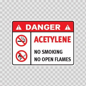Danger Acetylene. No Smoking. No Open Flames. 19049