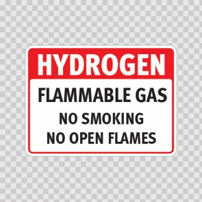 Hydrogen Flammable Gas No Smoking No Open Flames 19102