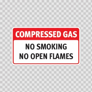 Compressed Gas No Smoking No Open Flame 19103