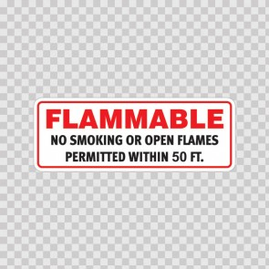 Flammable No Smoking Or Open Flames Permitted Within 50 Ft. 19104
