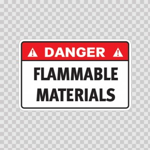 Danger Flammable Materials 19119