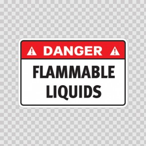 Danger Flammable Liquids 19120