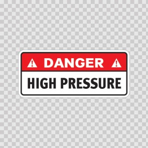 Danger High Pressure 19123