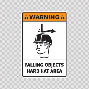 Warning Falling Objects Hard Hat Area 19175