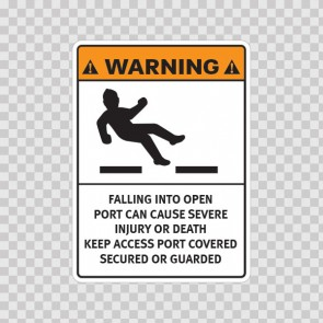 Warning Falling Into Open Port Can Cause Severe Injury Or Death. Keep Access Port Covered, Secured Or Guarded. 19176