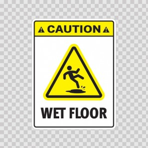 Caution Wet Floor 19179