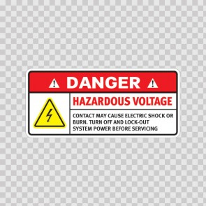 Danger Hazardous Voltage. Contact May Cause Electric Shock Or Burn. Turn Off And Lock-Out System Power Before Servicing. 19364