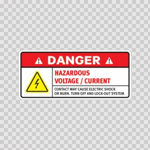 Danger Hazardous Voltage / Current. Contact May Cause Electric Shock Or Burn. Turn Off And Lock-Out System.. 19365