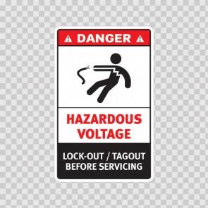 Danger Hazardous Voltage. Lock-Out / Tagout Before Servicing. 19385