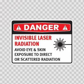 Danger Invisible Laser Radiation Avoid Eye & Skin Exposure To Direct Or Scattered Radiation  19464