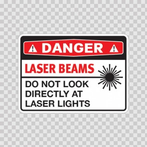Danger Laser Beams Do Not Look Directly At Laser Lights  19466